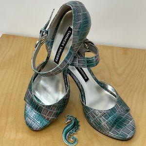 Chinese Laundry AMBER High Heels Aqua/Purple 7.5